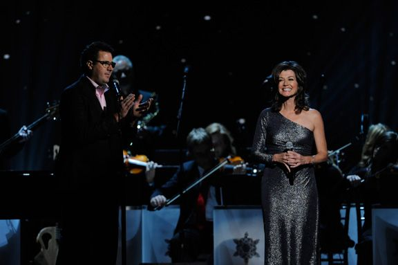 """Vince Gill backs up wife Amy Grant on """"Breath of Heaven"""" during the 2011 """"CMA Country Christmas ..."""