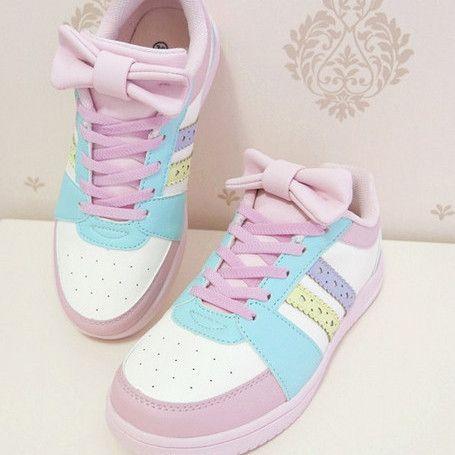 Rainbow sneakers, Pastel shoes, Sneakers