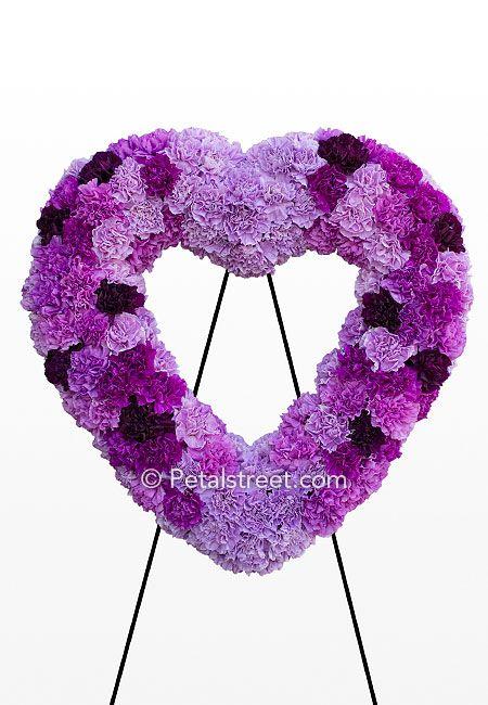 Flowers Purple Wreath Arrangements Funeral