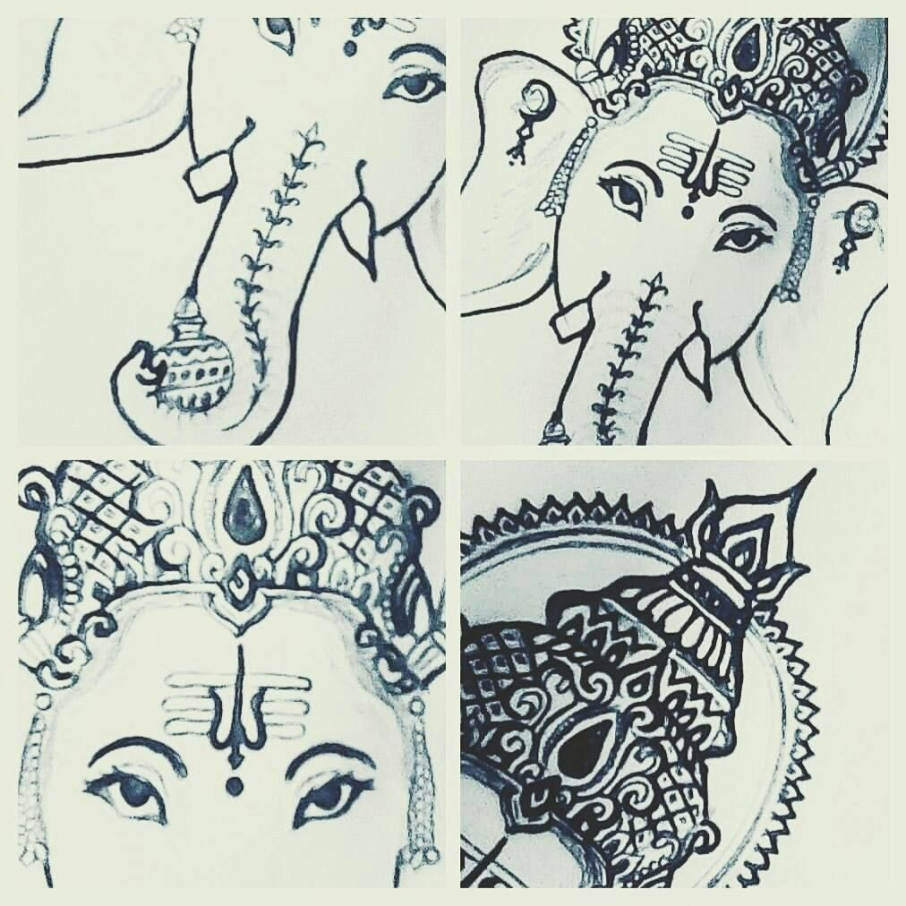 My drawing of lord ganesha art sketch drawing sathishlive