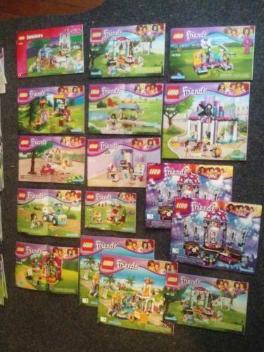 Lot Lego Friends Girls Instruction Booklets Manuals No Bricks 41313