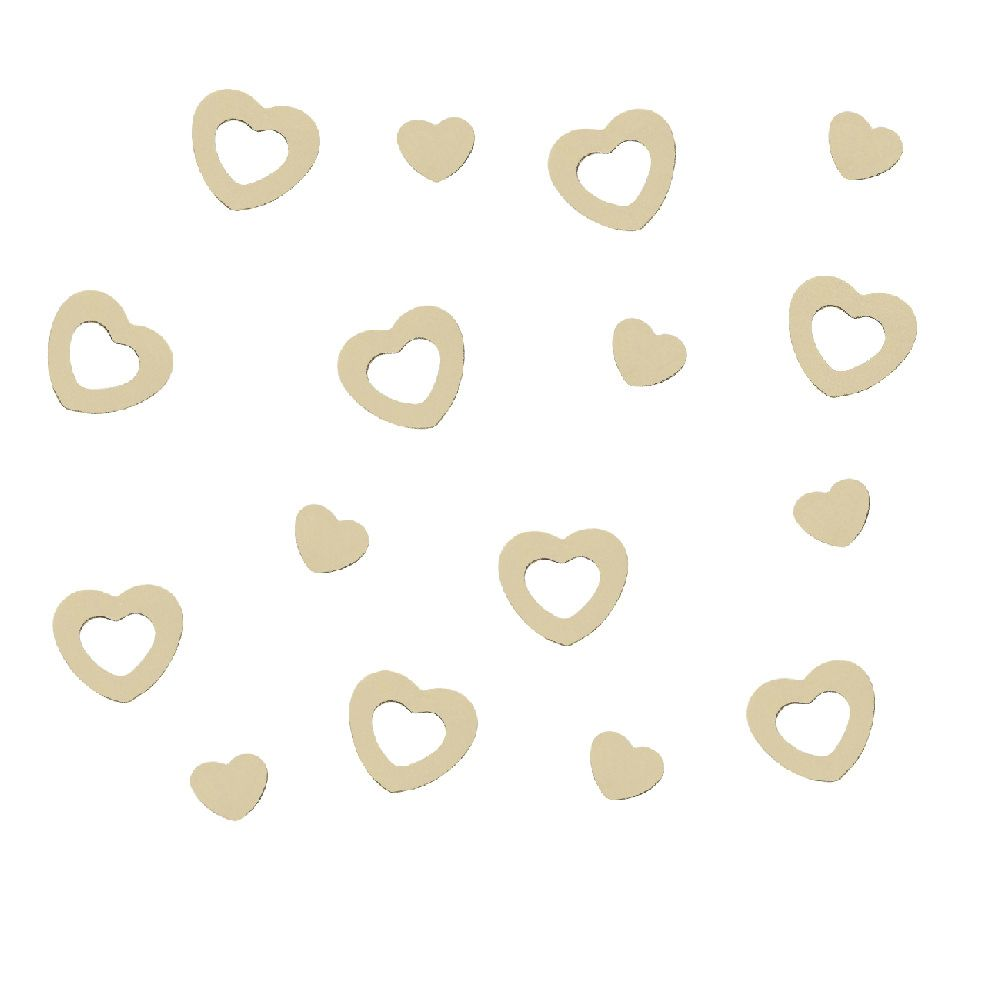 Herz Konfetti Tischdeko Liebe Romantik Hochzeitsdeko - creme in Dekoration  • Konfetti