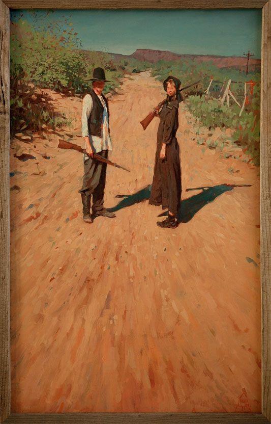 Hualapai vaqueros. Oil on canvas. 36×24 inches | Mark Maggiori