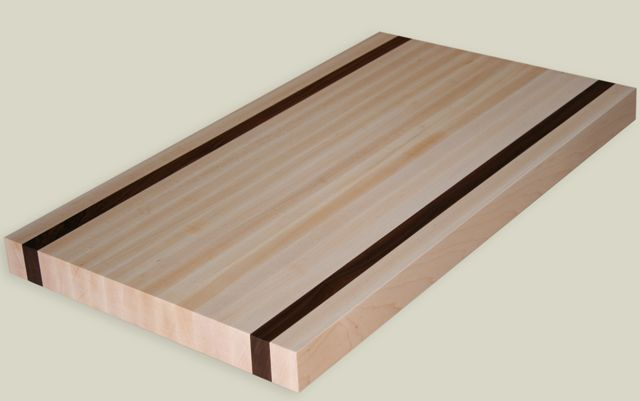 Maple Edge Grain Butcher Block Countertop With 2 Cherry Strips