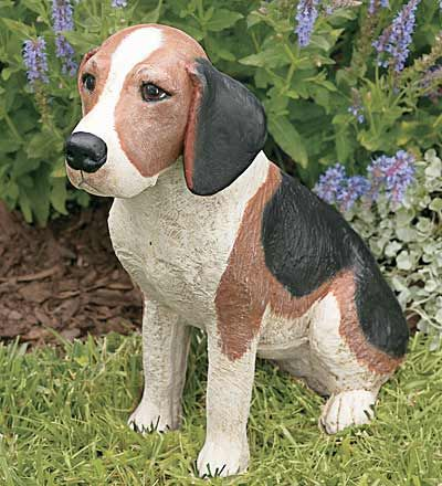 Life Size Beagle Resin Statue