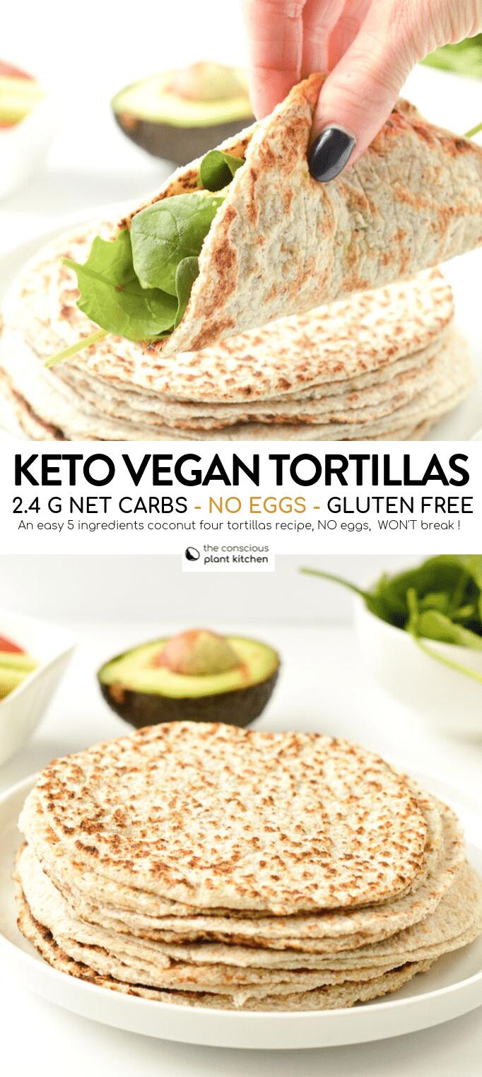 Gluten free tortillas recipe keto + vegan - The Conscious Plant Kitchen
