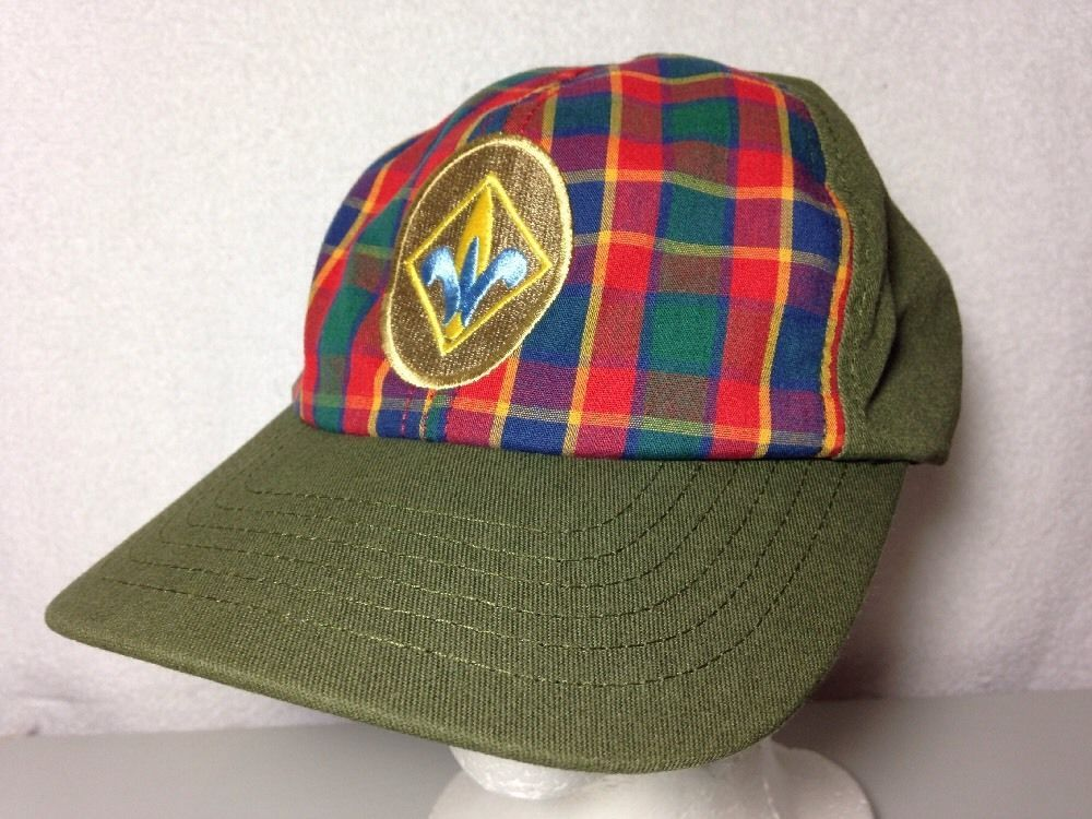 Boy Scouts Of America BSA Plaid Baseball Hat Webelos Adjustable Small    Medium 730176640242  6101c9cc4e9