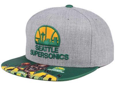 Seattle SuperSonics Mitchell   Ness NBA Caricature Snapback Cap ... f303e77dfb