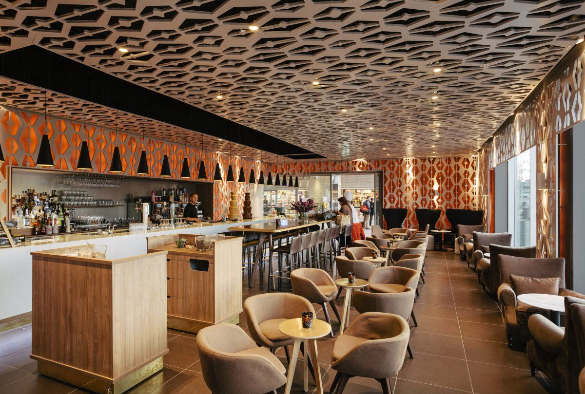 Caf weekend amsterdam restaurant coffee shop design for Diseno interiores 3d