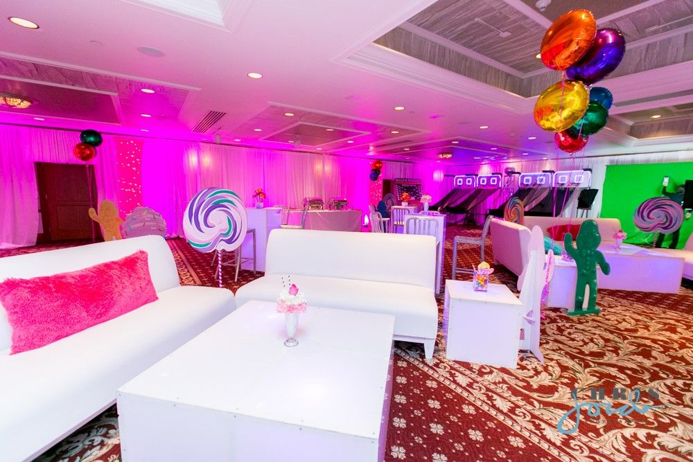 Candy candyland theme bat mitzvah kids lounge at new for Candy hotel