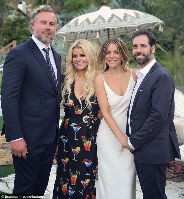 Jessica Simpson At Friend's Wedding In Palm Springs