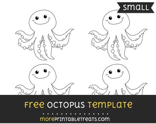 Free Octopus Template - Small | Shapes and Templates Printables ...