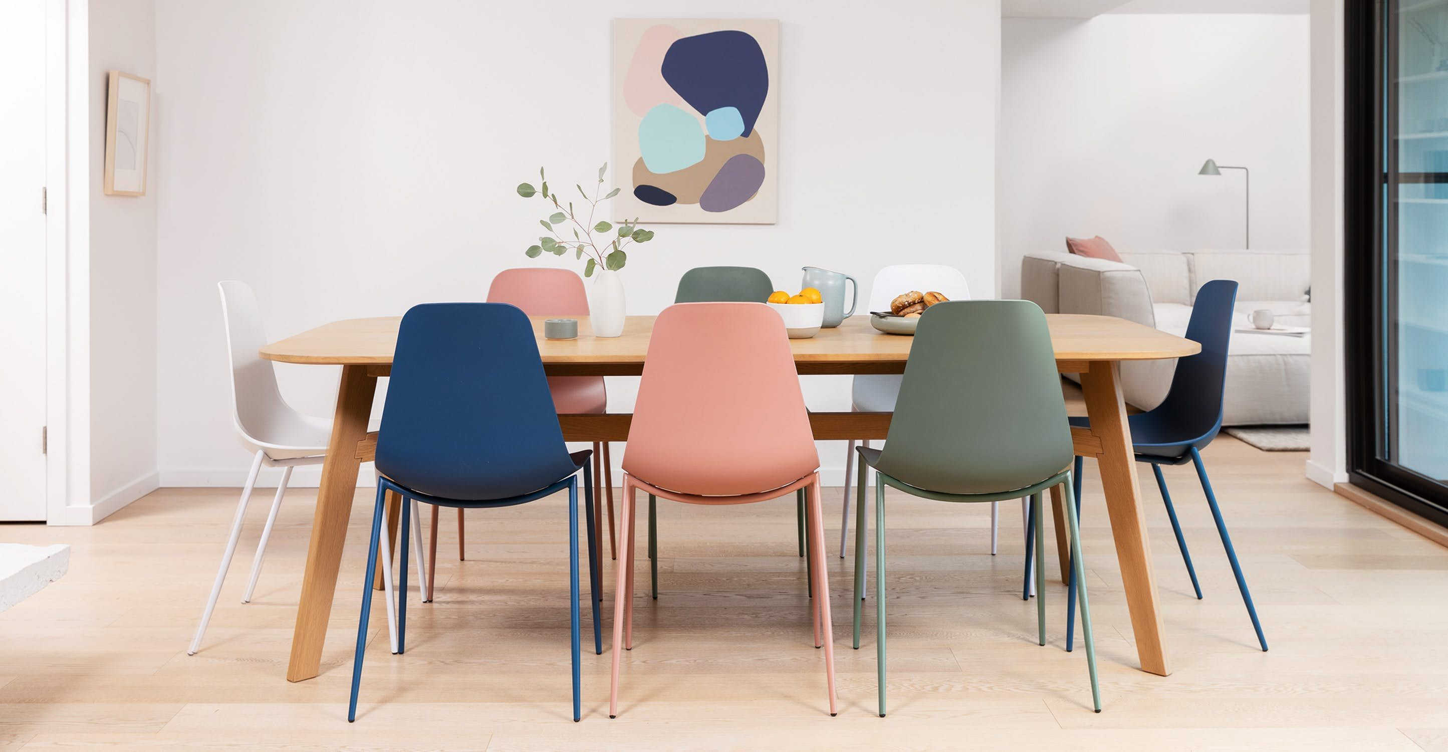 Svelti Dusty Pink Dining Chair Blue Dining Chair Dining Chairs