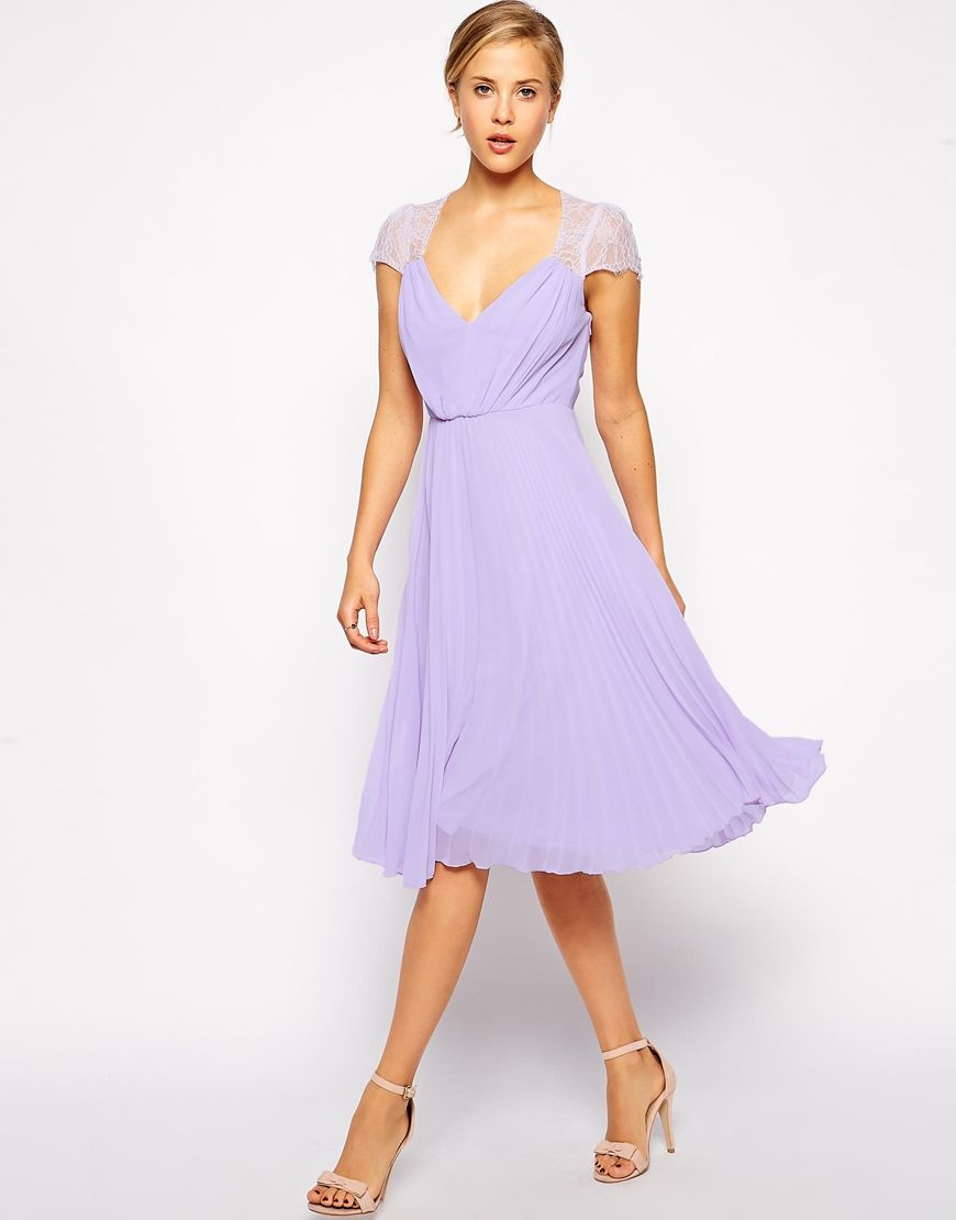 e2f06a14584 ASOS Lace Insert Pleated Midi Dress ( 89)