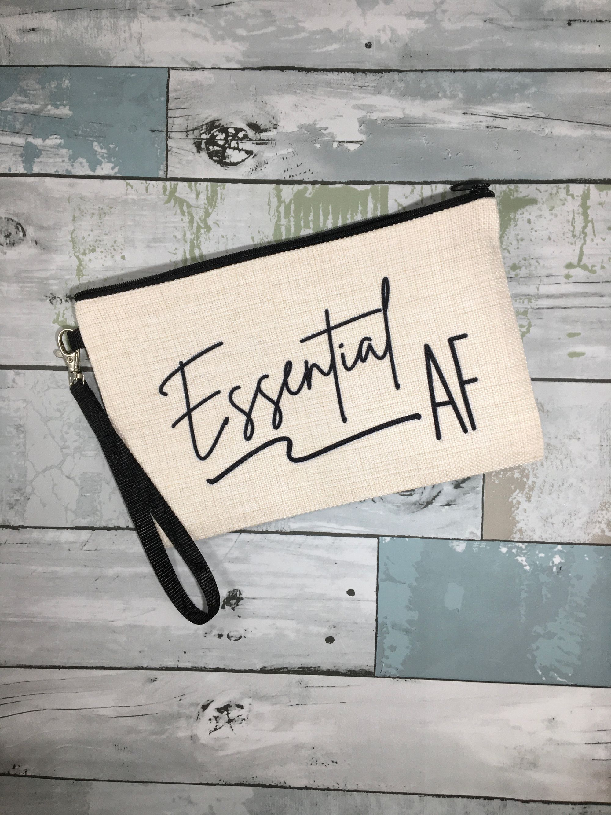 Essential employee appreciation gift, Essential employee thank you gift, Essential AF makeup bag, frontline worker, employee appreciation