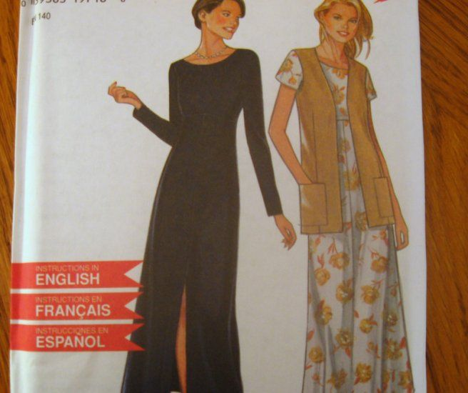SIMPLICITY NEW LOOK SEWING PATTERN - 6568 -8-18 MISSES DRESS AND ...