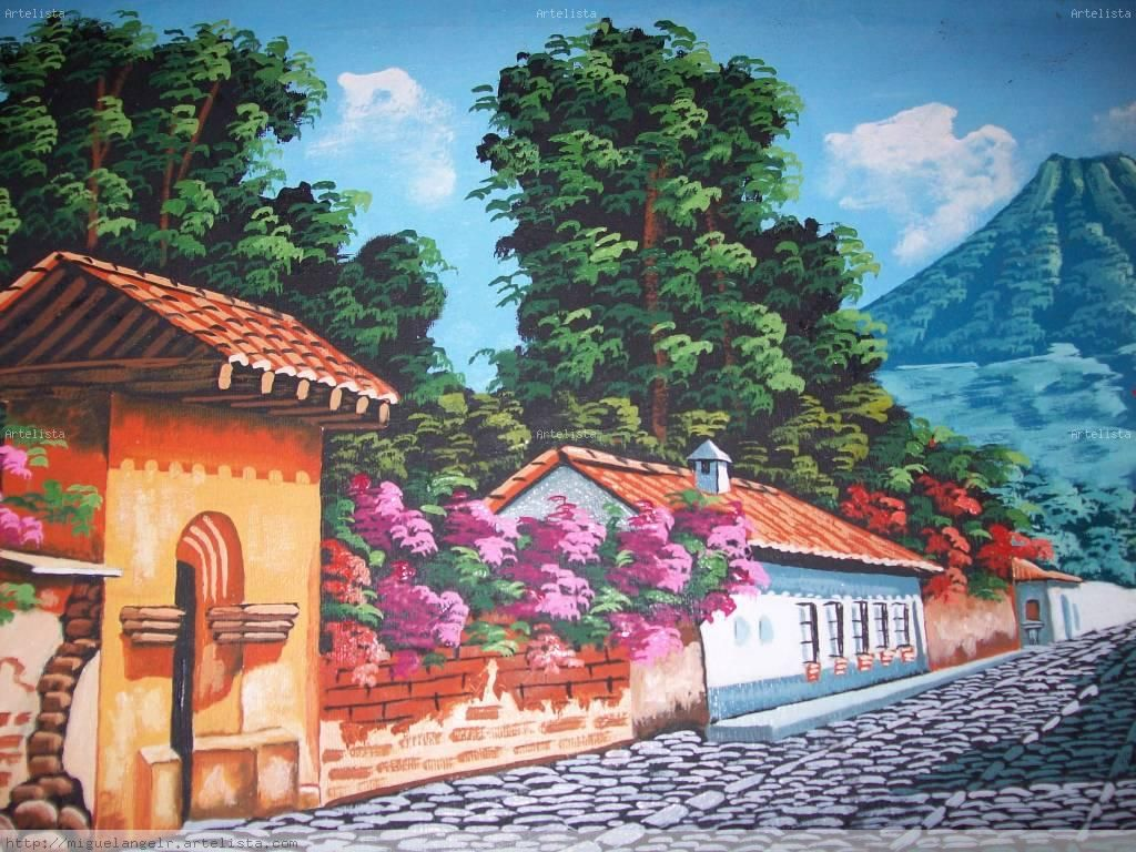 paisajes de guatemala en pintura  Buscar con Google  IMAGES