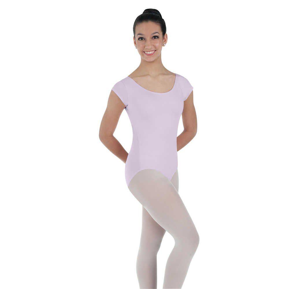 KEELY Ladies Plus Size Cotton Leotard Long Sleeve Plain Front