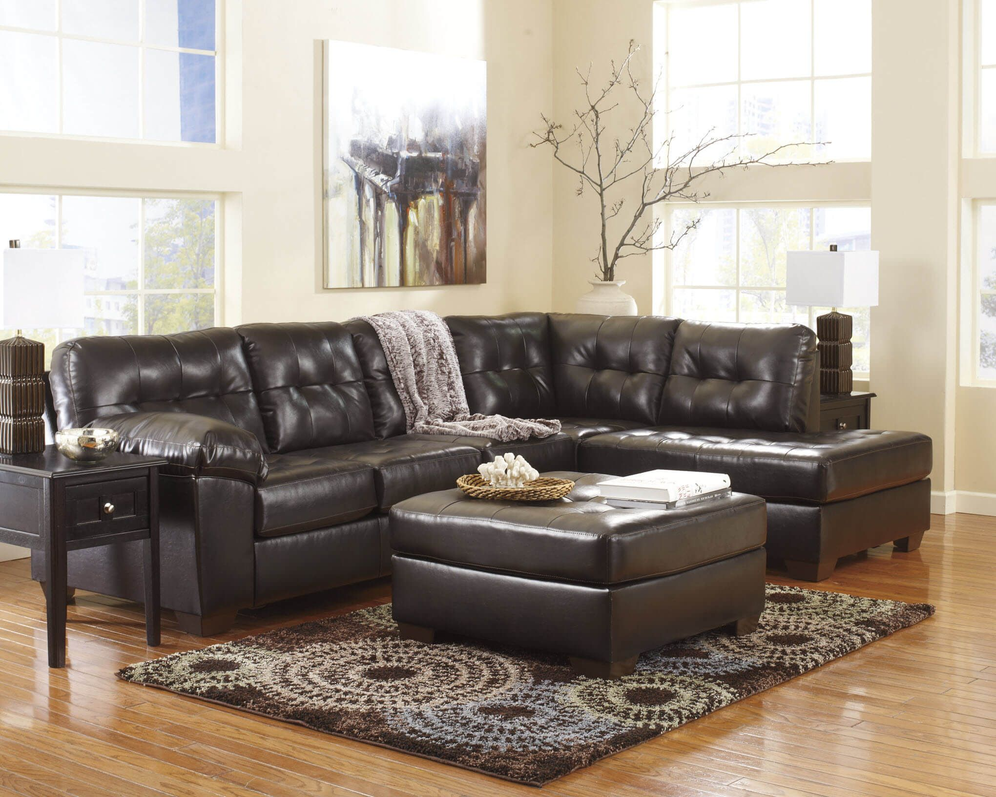 Best 20101 Alliston Chocolate 2 Piece Sectional Sectional 400 x 300