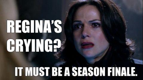 Regina's crying? It must be a season finale