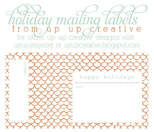 christmas printable mailing label Printables Pinterest - free printable shipping labels