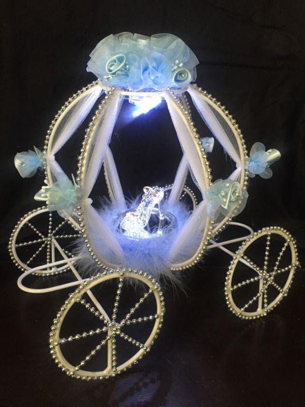 Cinderella Carriage Centerpiece Quinceanera Wedding Baby Shower