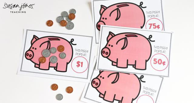 Free Money Game for First Grade! (Susan Jones) Money