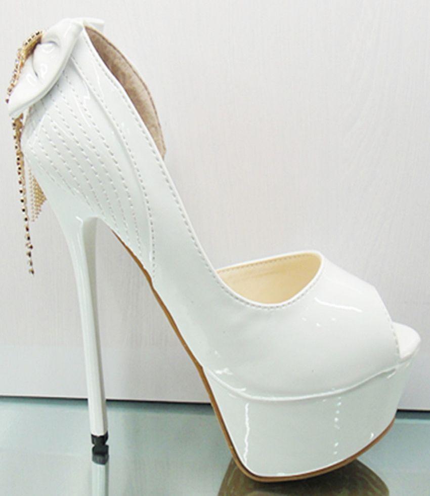 Platform Ultra High Heels Thin White Wedding Shoes Open Toe Shoe 12 Best Free Home Design Idea Inspiration
