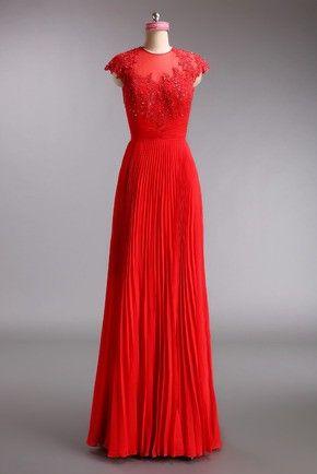 Bohemian Jewel A-Line Zipper Up Evening Dress With Lace Flower