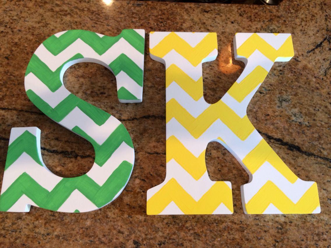 DIY painted chevron letters | Paint chevron, Diy painting ...