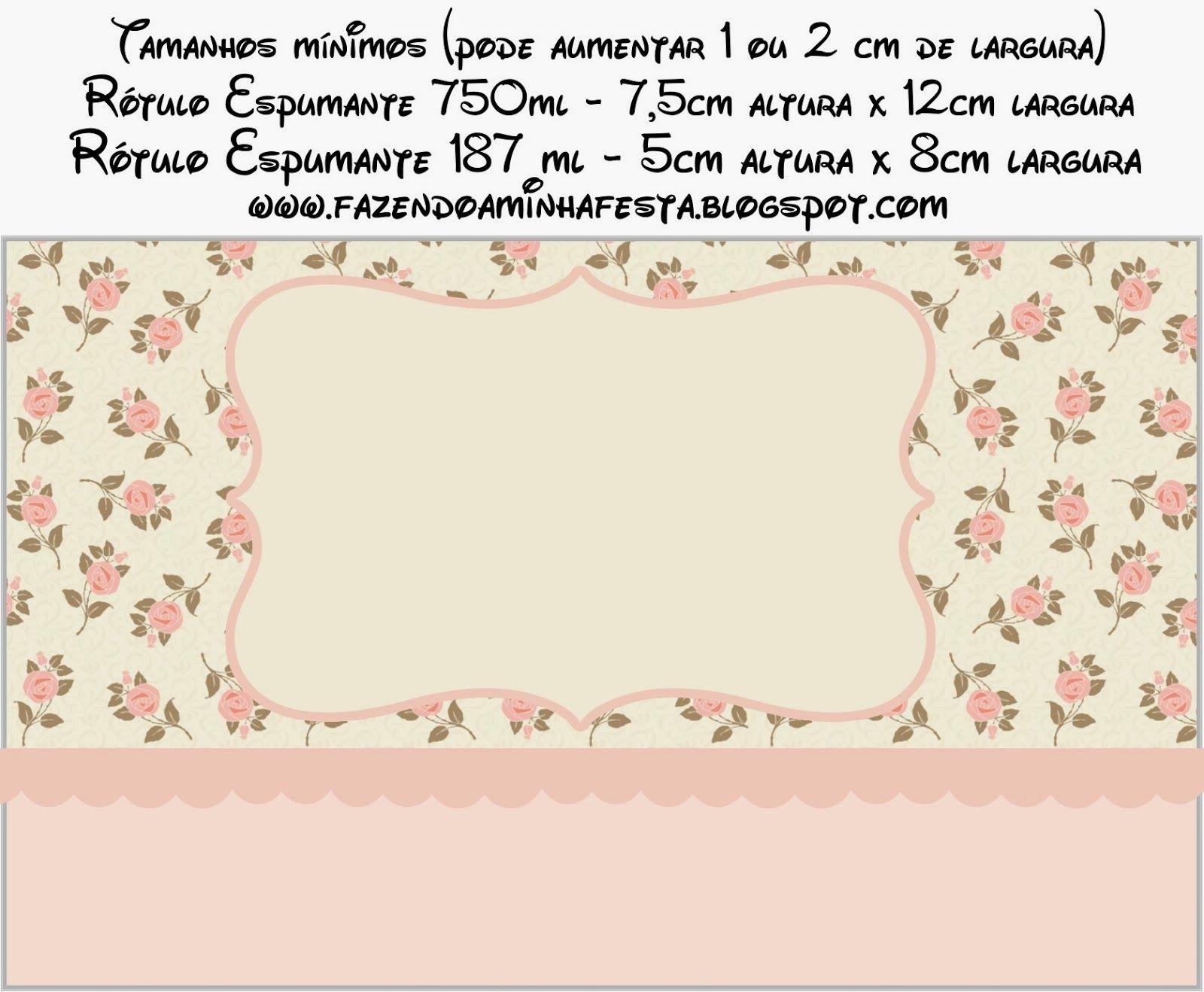 Delicadas Rosas Etiquetas para Imprimir Gratis