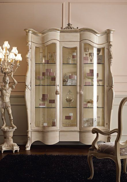Italian Luxury Dining Room Wood Furniture. Andrea Fanfani Italy, Display  Cabinet