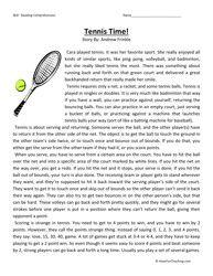 Fifth Grade Reading Comprehension Worksheet - Tennis Time ...