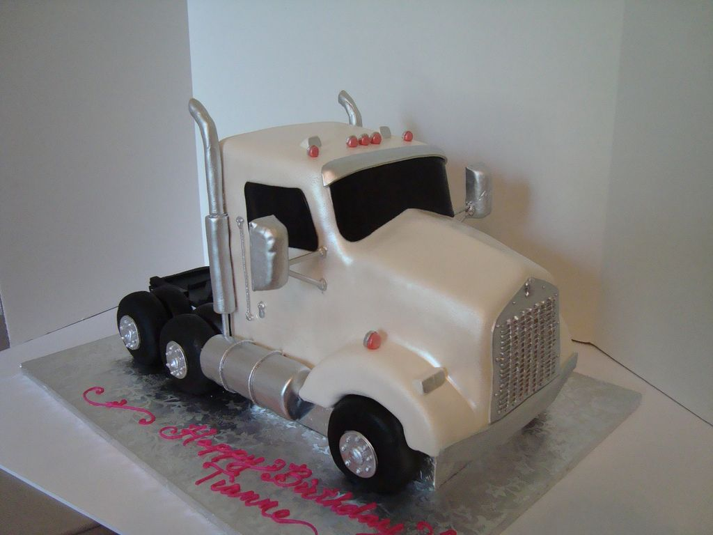 Tractor Trailer Cake Side view Tractor Cake and Birthday cakes