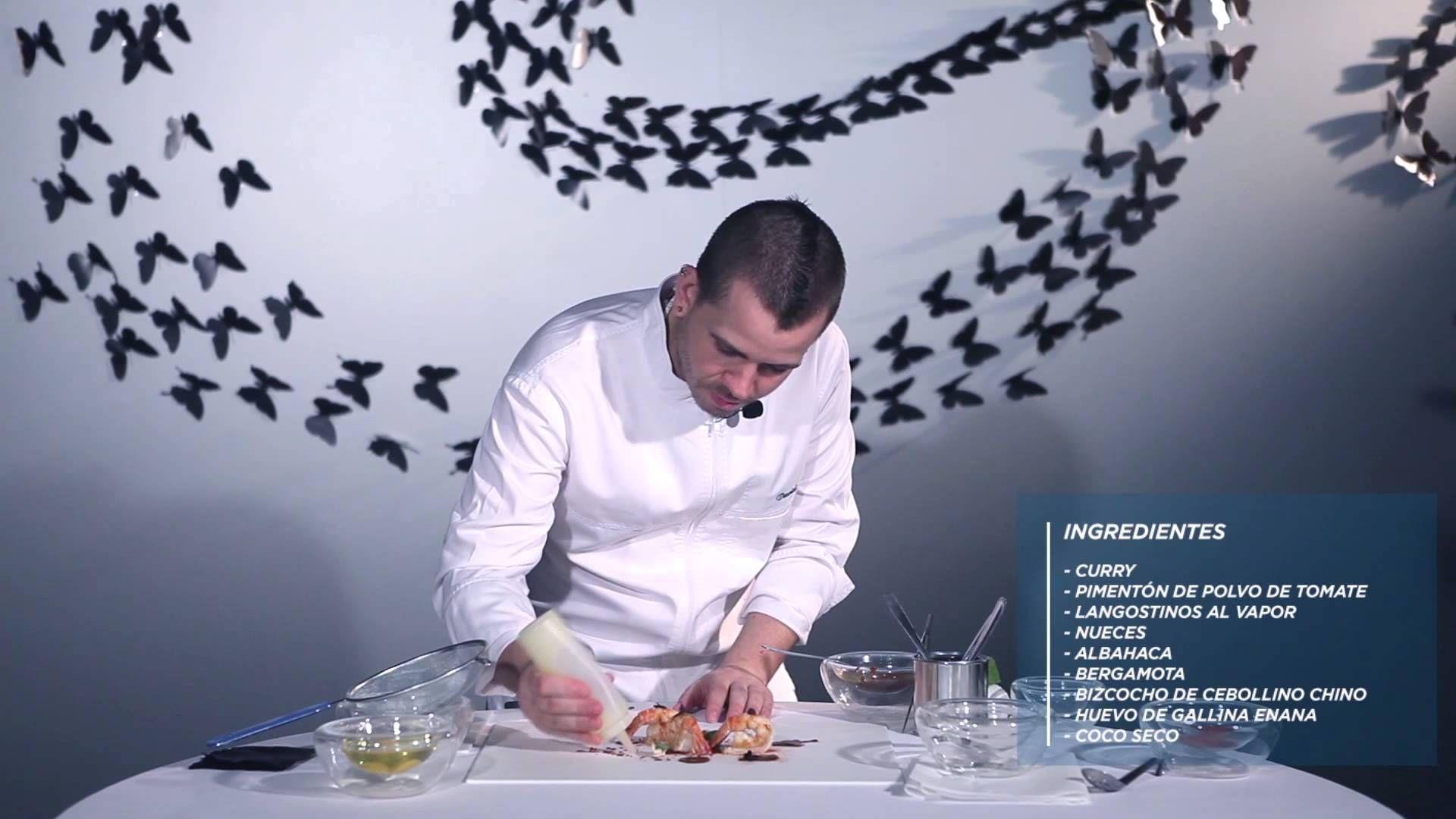 Video Receta De David Muñoz Langostinos Con Coco Langostinos Recetas Videos De Cocina