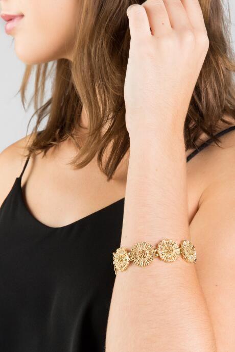 Jaden Sunburst Circle Stretch Bracelet $18.00