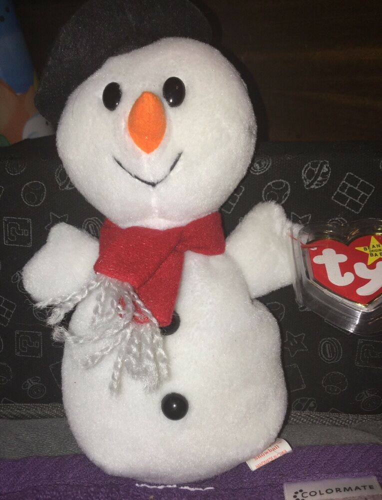 MINT TY BEANIE BABY SNOWBALL THE SNOWMAN RETIRED