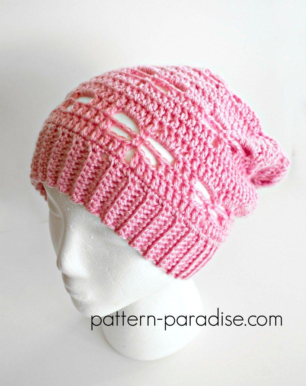Free Crochet Pattern: Dragonfly Slouchy Hat | Pinterest | Artesanía