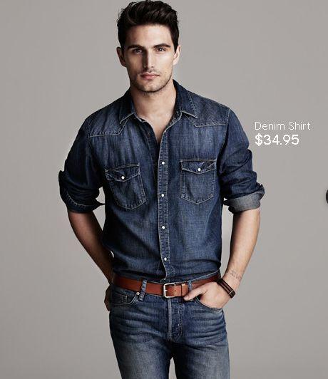 Men's black denim shirt – Global fashion jeans collection