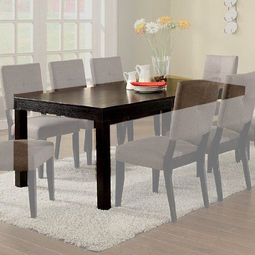 bay side dining table with leaf in espresso finish by furniture of, Esstisch ideennn