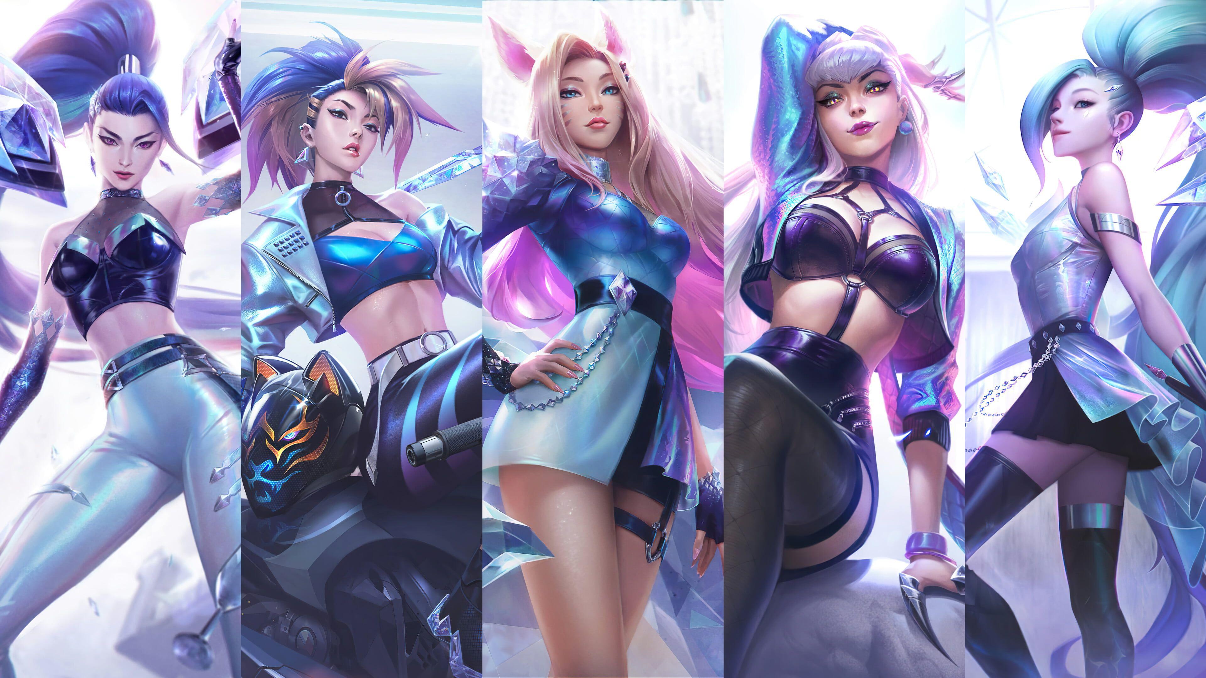 235abf26861442e2f9cad25bb68ccd47 - Kpop Wallpaper 4k - HD wallpaper: K/DA, kda, Seraphine (League of Legends), Evelynn, Evelynn (League of Legends)