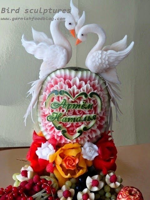 Carving Arrangements and Food Garnishes: Wedding Fruit Platter Decoration