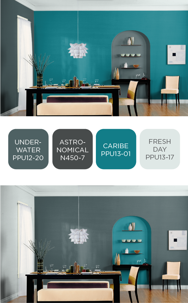Http Blog Homedepot Com How To Stain Concrete Luxe Look Stylish Dining Room Dining Room Colors Paint Color Chart