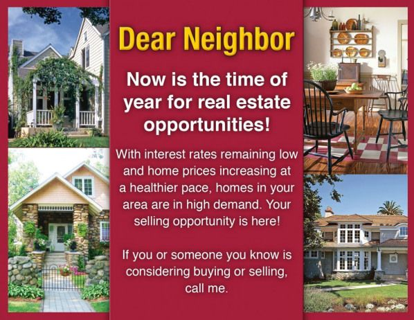 Great Real Estate Postcards that get you more leads during the busy season Buy 5 months get one free