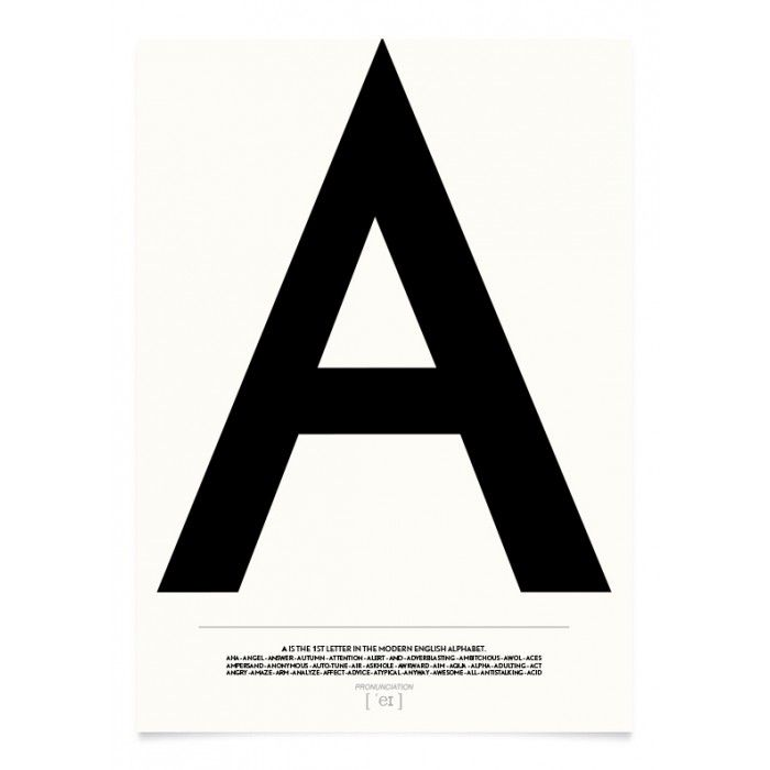 Typography Letters of the Alphabet Prints. Explore the beauty of