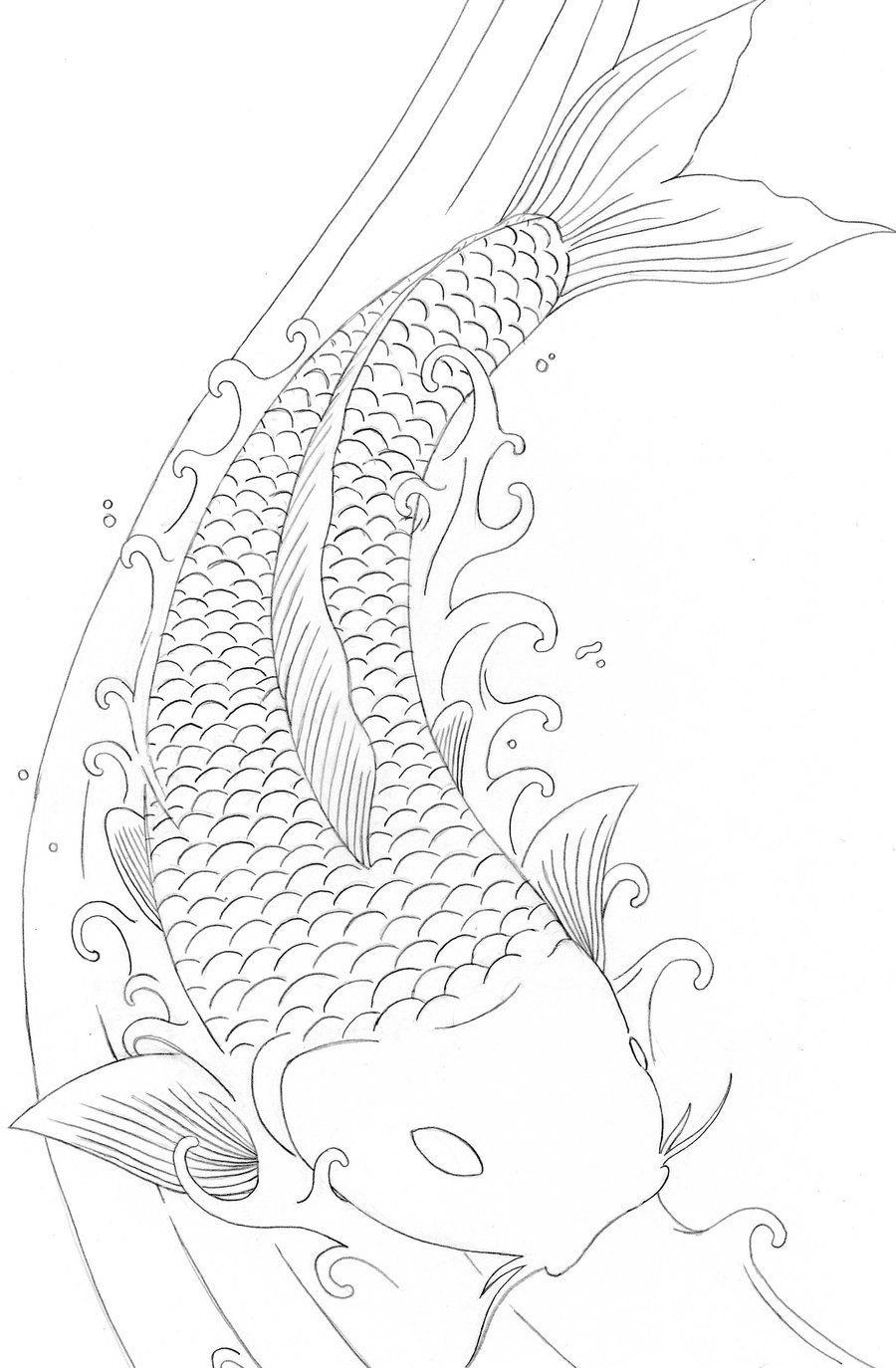Koi Fish Colouring Pages Cakepins Com Koi Fish Colors Koi Fish Drawing Fish Coloring Page