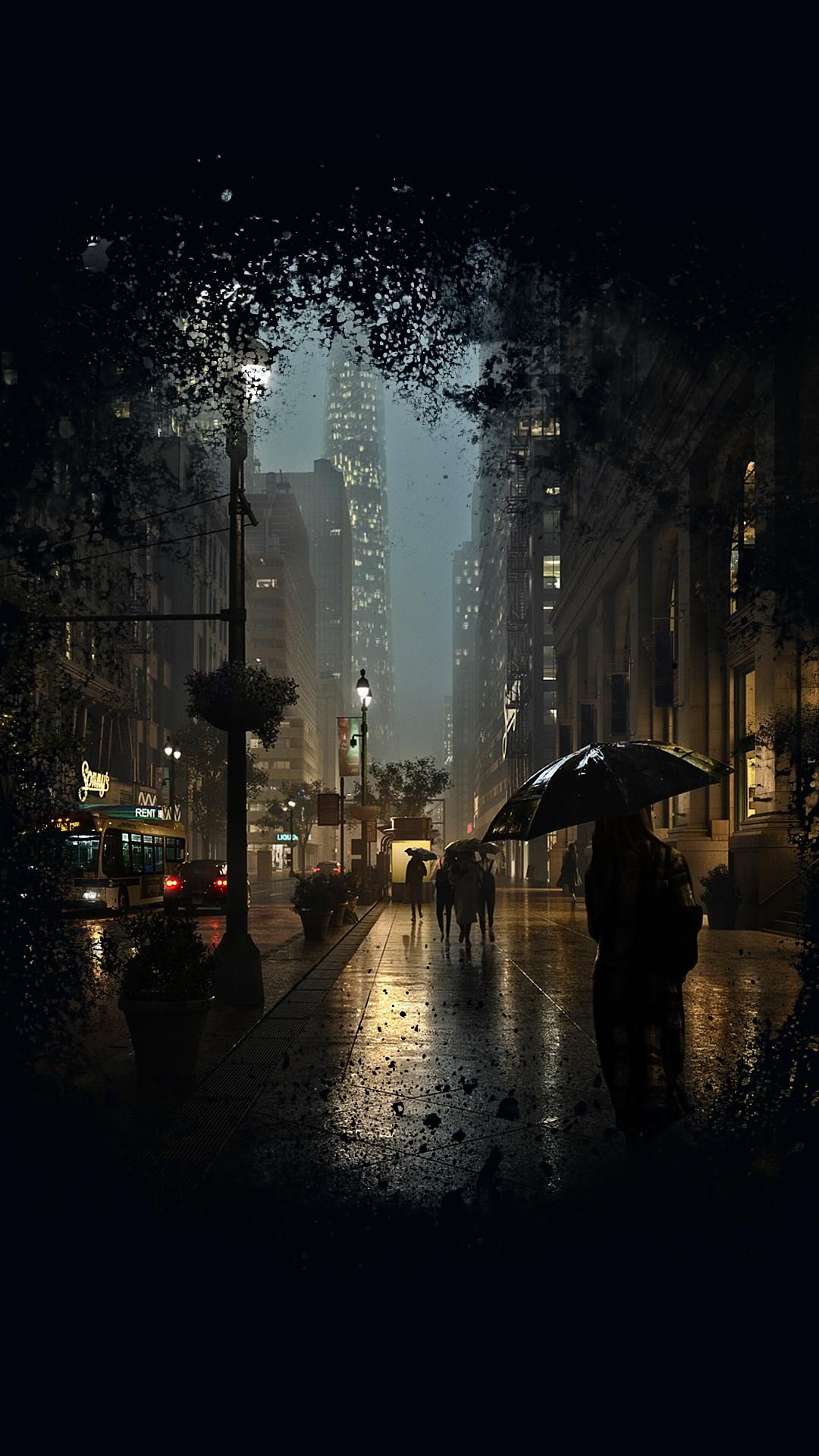 Rainy Smart Phone Wallpapers 4kphonewallpapersreddit
