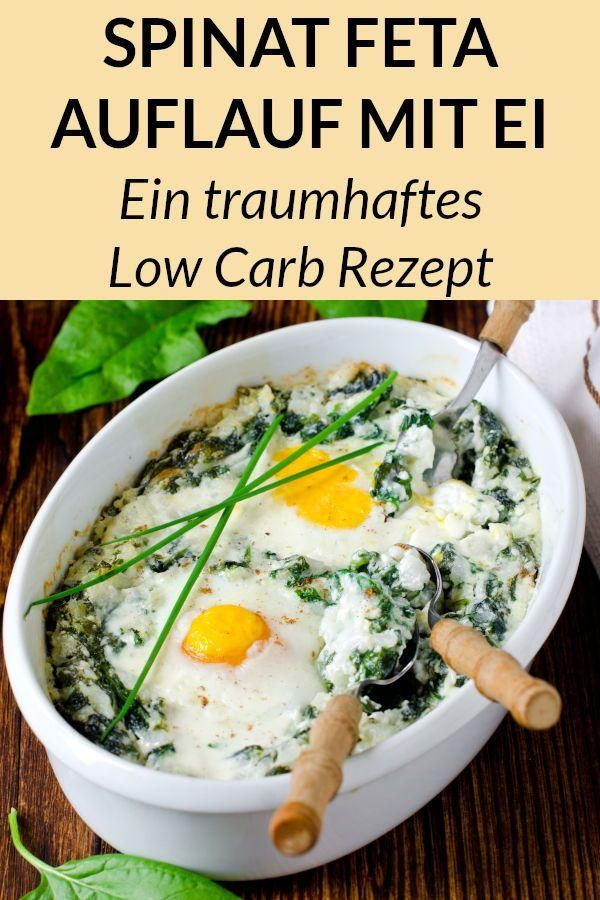 Fast Low Carb Casserole with Spinach and Feta Cheese - A Simple Low Carb Re ...  - Gesunde Fitness R...