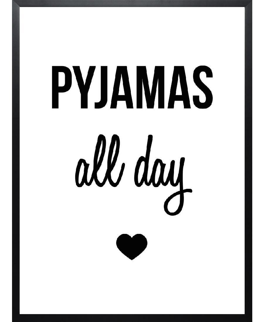 Pyjamas all day von eulenschnitt now on juniqe deko pinterest