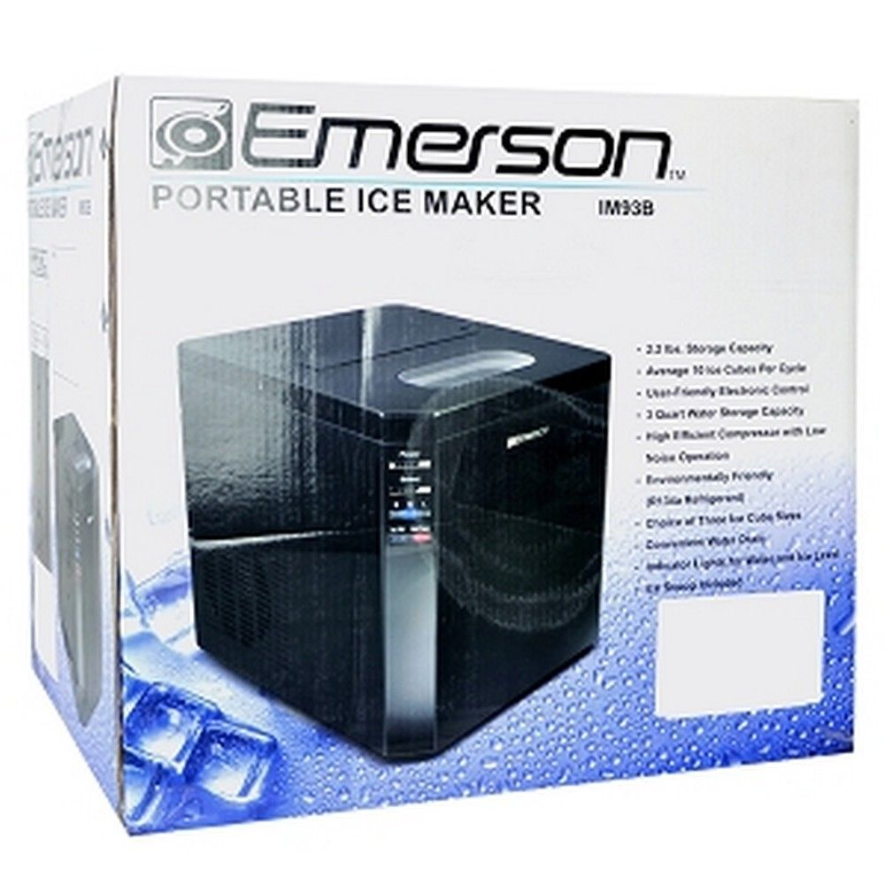 Emerson Im93b Portable Ice Maker Black Color Retail Box